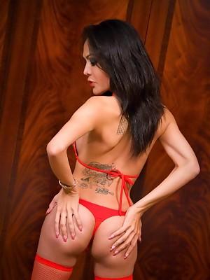 Small Asian post op Pear in slutty lingerie